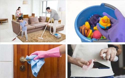 vệ sinh nhà cửa đúng cách phòng chống covid 2021